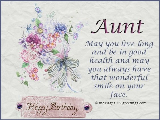 Birthday Card Messages For Aunt Card Design Template