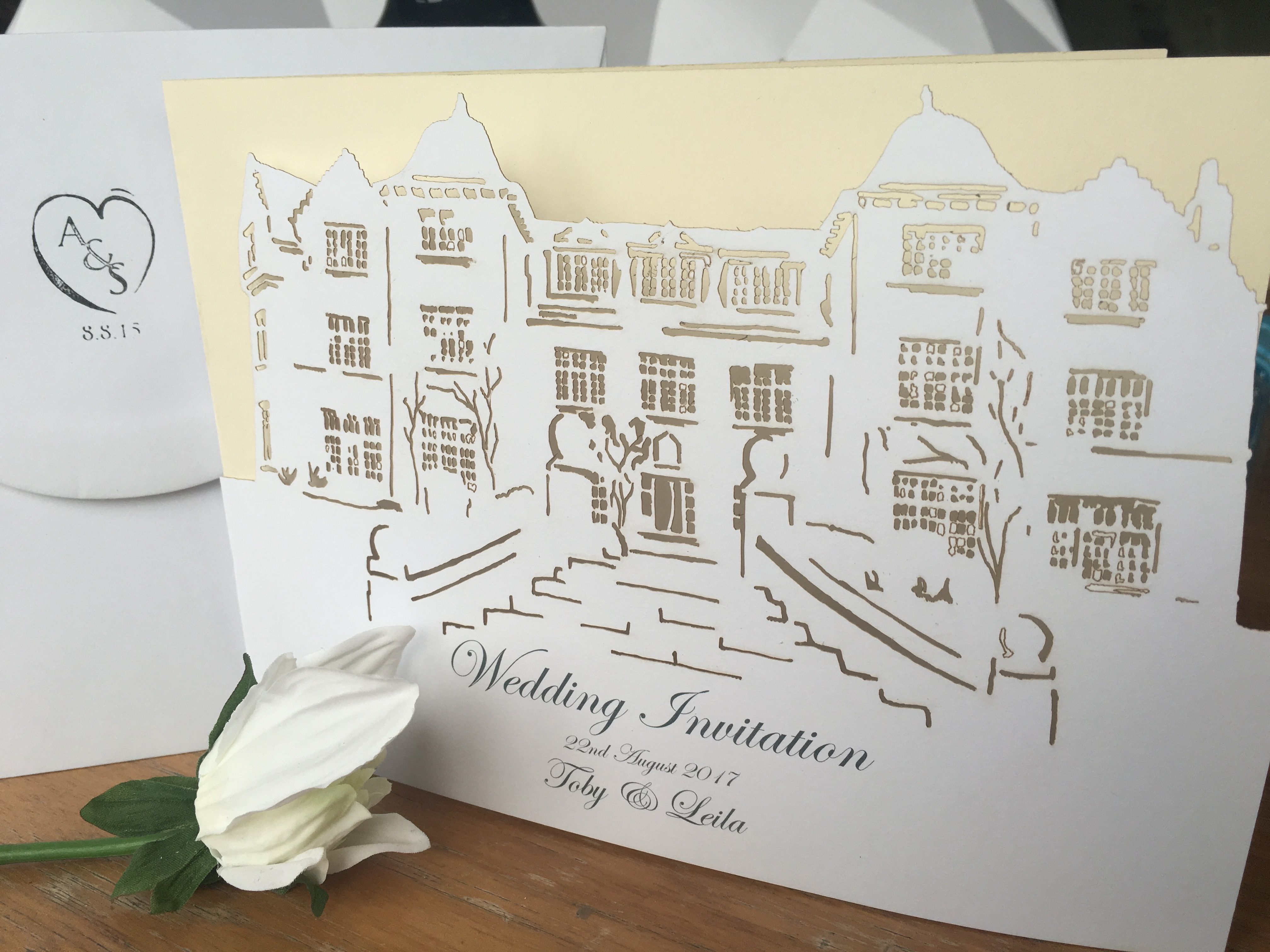 Cairns House wedding invitation. We can turn YOUR VENUE into a ...