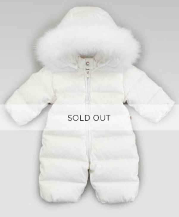 33a518a98 Gucci Baby Winter White Fur Down Infant Snowsuit Size 0-3 Months NB ...