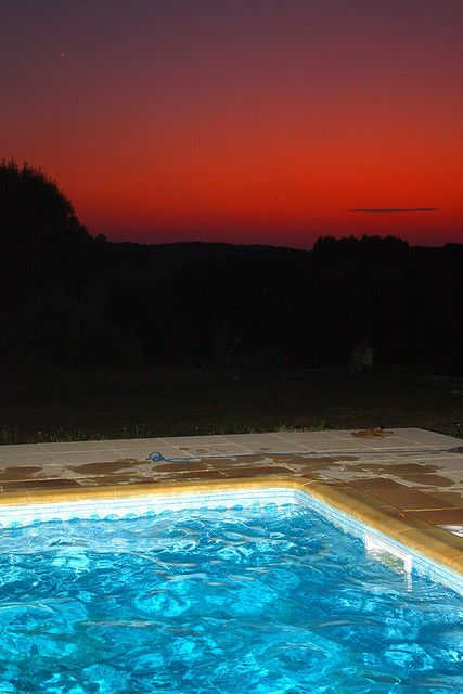 The swimming pool at Chateau Charbontiere where we had the whole place for a whole week, wonderful sunsets and grounds     Your Health Your Life!!