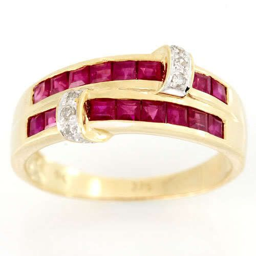 166ct Natural Ruby Diamond 9k Yellow Gold Ring Ebay
