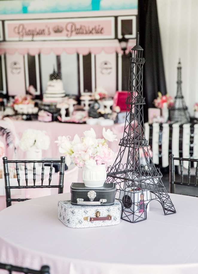 Paris Birthday Party Ideas  Photo 9 of 9  Paris birthday