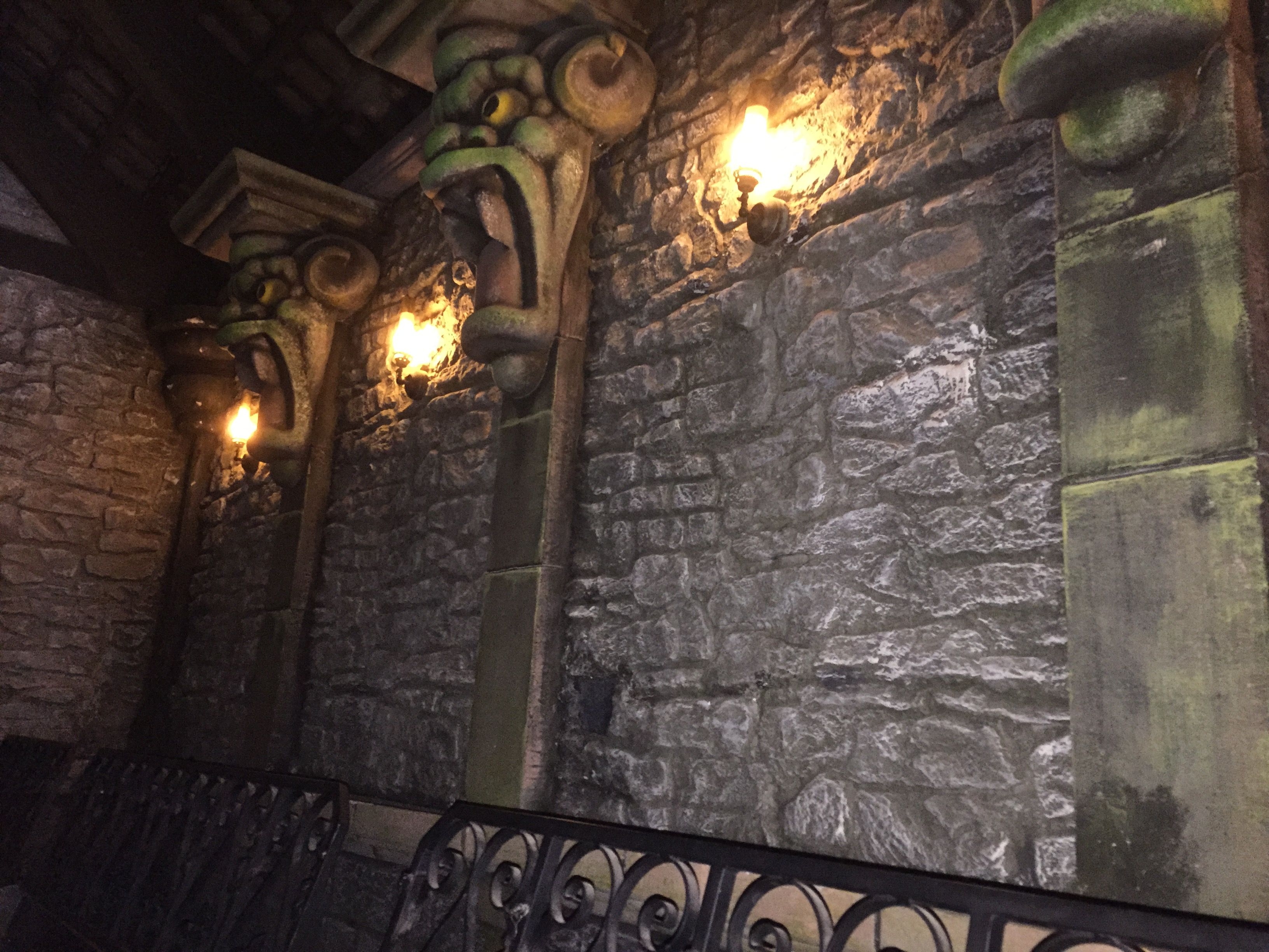 Theming inside the crypt in the haunted Vicarage