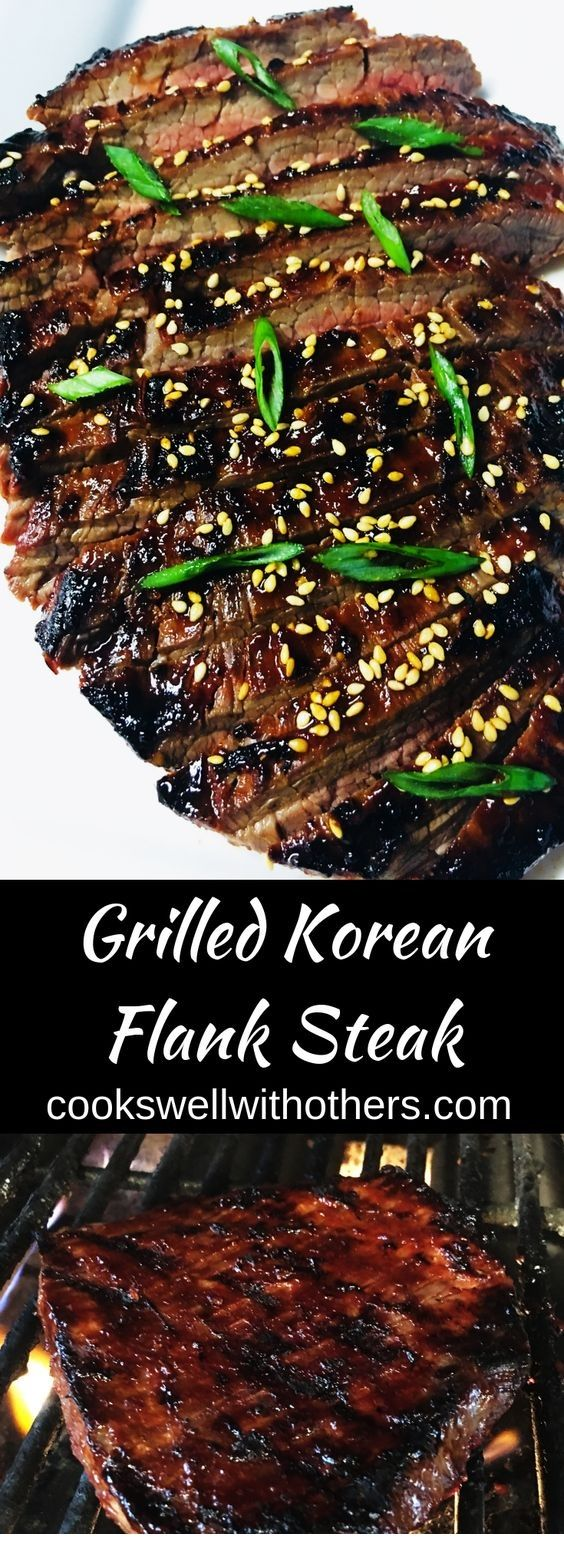 Grilled Korean Flank Steak  #beefsteakrecipe