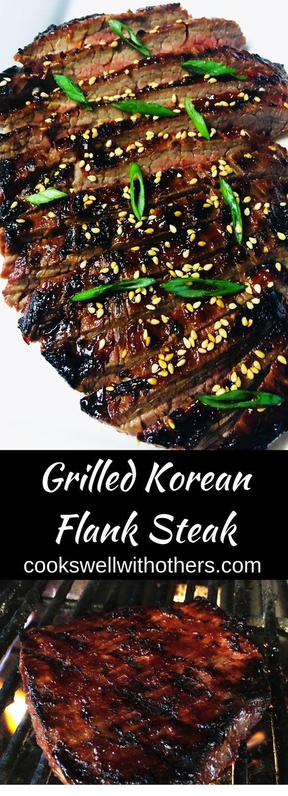 Grilled Korean Flank Steak  #grilledsteakmarinades