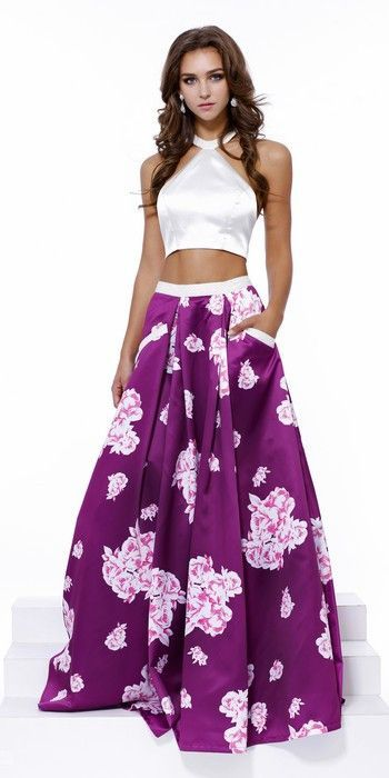 6622acdaa46 Two Pieces Prom Dress