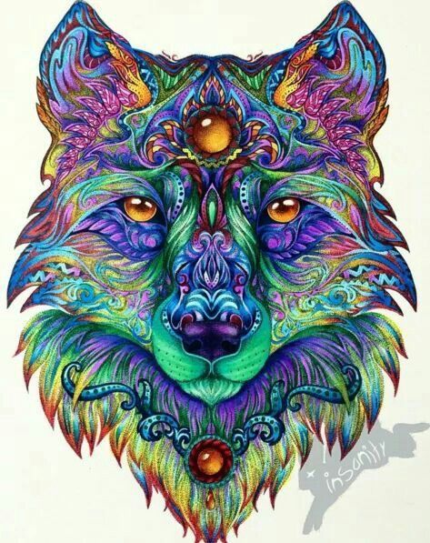 Pin by Roberta Benton on Art   Pinterest   Wolf, Coloring books and ...