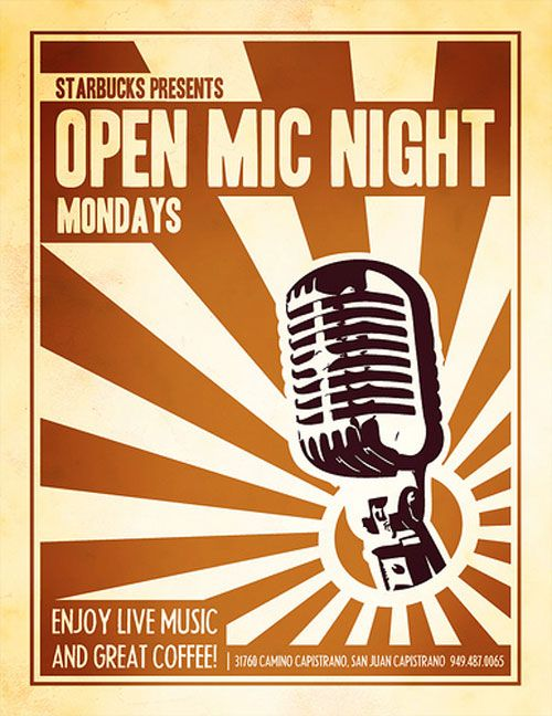 60 Mind Blowing Flyer Designs For Inspiration Open Mic