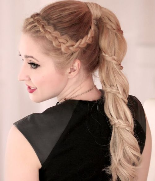 Braided Ponytail Ideas 40 Cute Ponytails With Braids Hot Hair Styles Ponytail Hairstyles Braided Ponytail