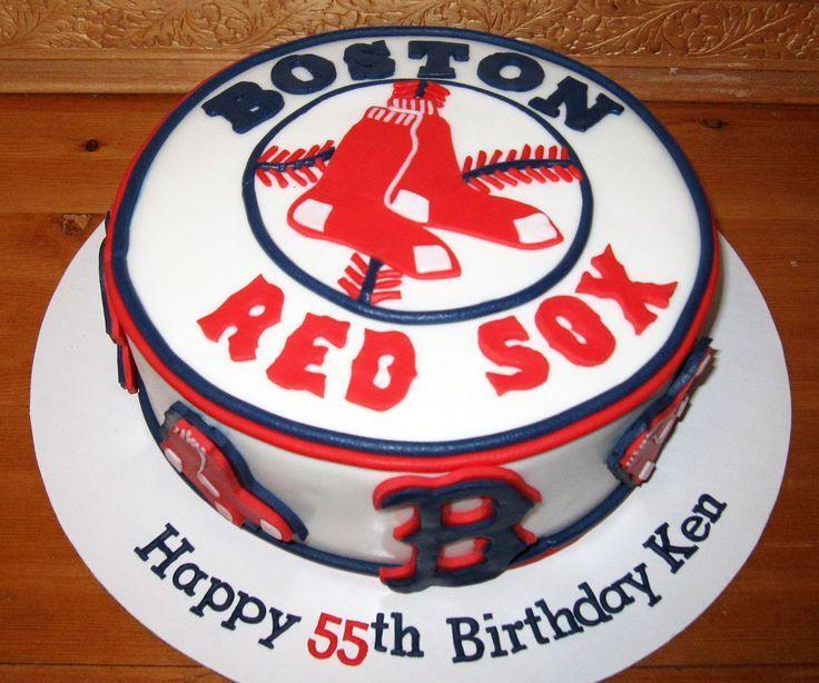 Outstanding Boston Birthday Cakes Red Sox Cake Cake Boston Red Sox Cake Funny Birthday Cards Online Inifodamsfinfo