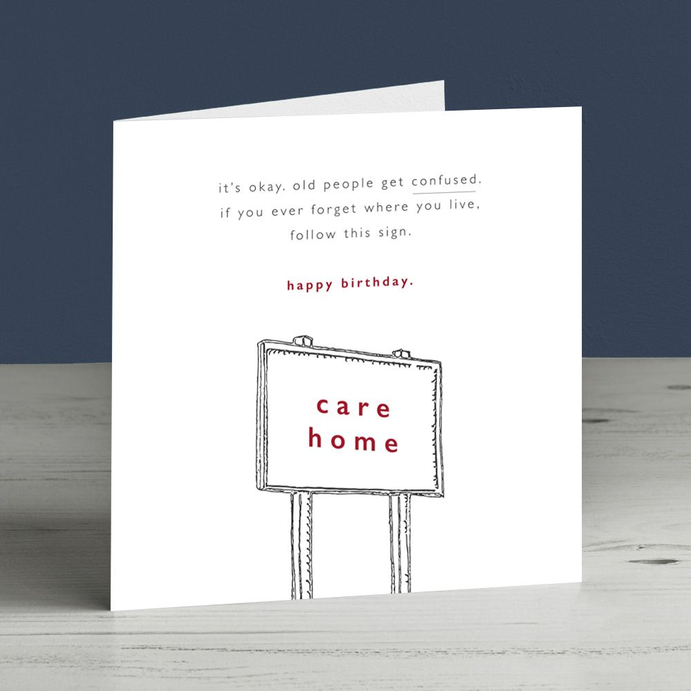 Funny Birthday Card Forgetful Getting Old Care Home Etsy Funny Birthday Cards Birthday Cards Birthday Humor