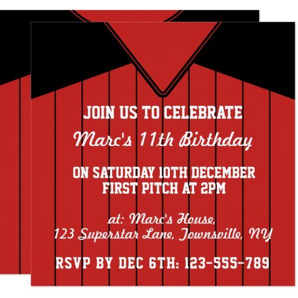 baseball jersey themed party invites template birthday invitations