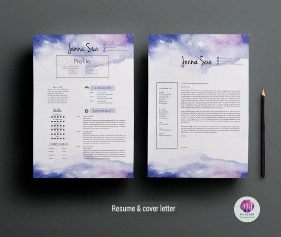 creative cv template    resumte template   cover letter template  u0026 reference letter template
