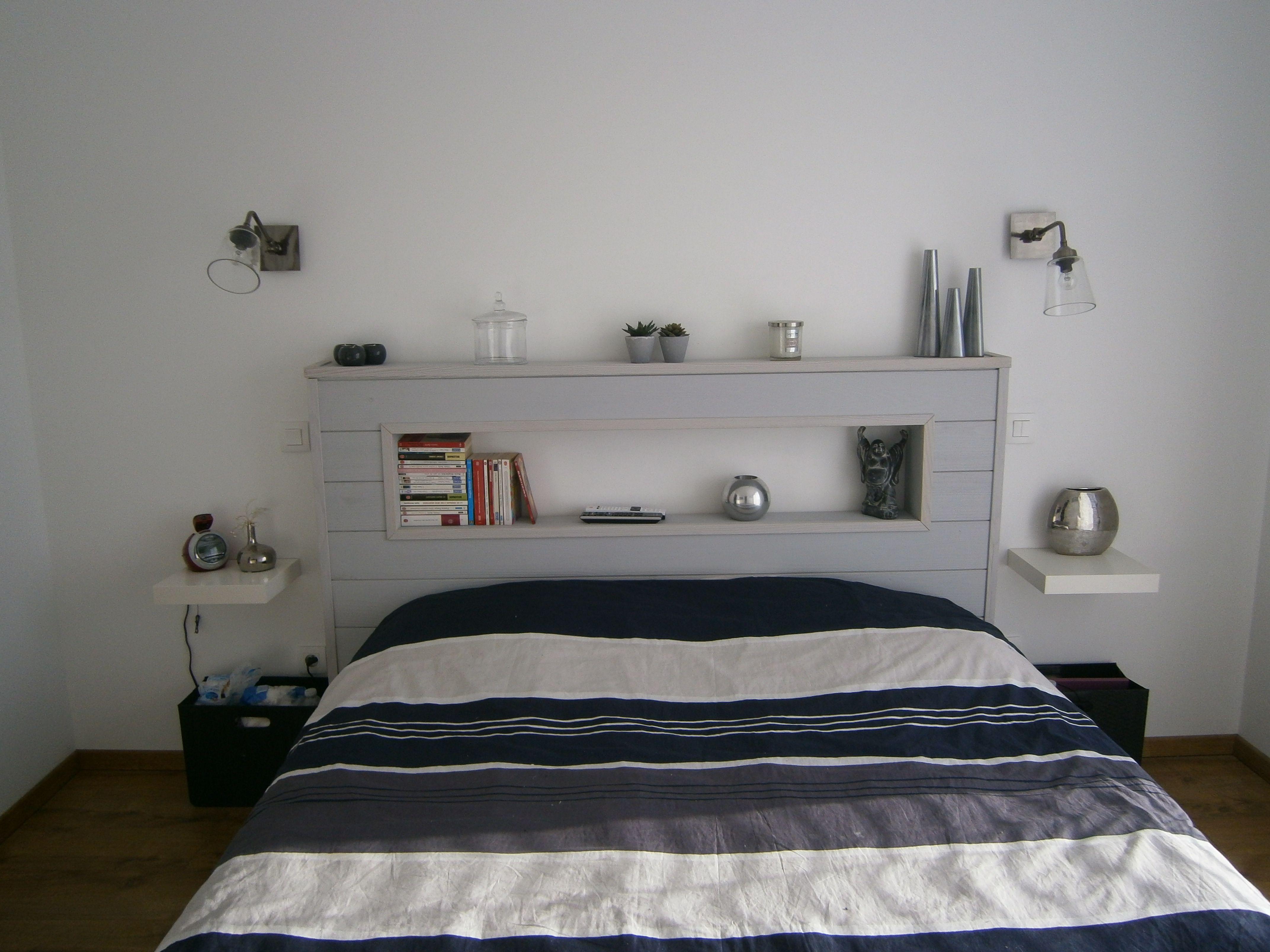 Comment Fabriquer Sa Tete De Lit diy : comment faire une tête de lit en lambris peint par