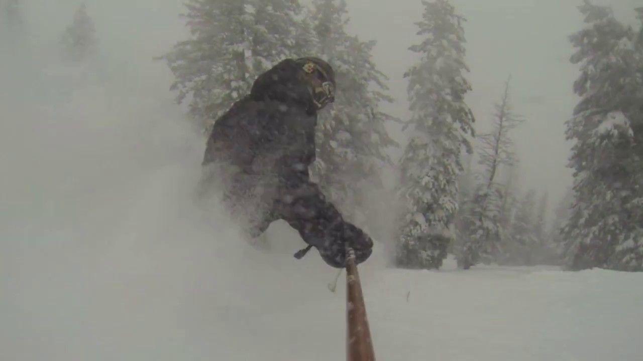 Ski idaho silky soft powder shots telemark style by