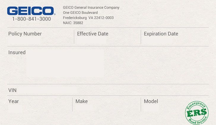 Free fake auto insurance card template in