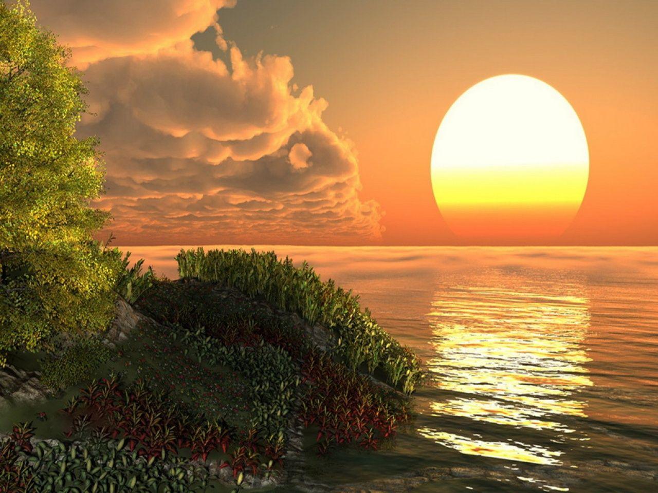 Reflejos En El Agua Paisajes Amanecer En El Mar Reflejos En El Agua
