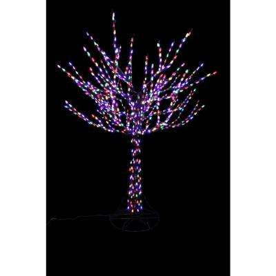 Christmas Tree Trim A Home 4 5 Pre Lit Stick Tree With 300 Clear Lights New Decorating With Christmas Lights Outdoor Christmas Tree Christmas Tree Trimming