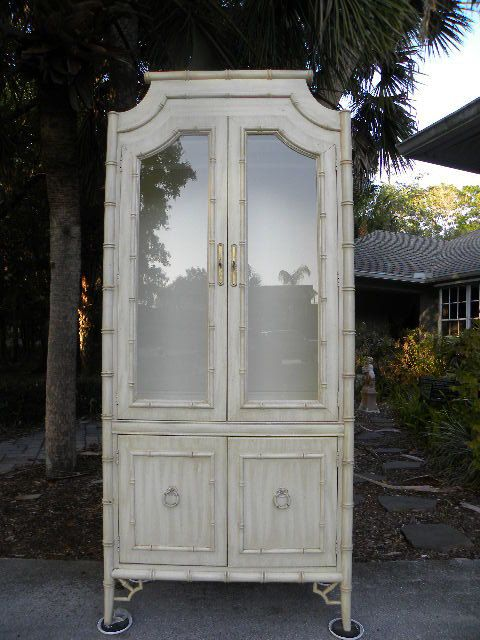 Vintage Thomasville Faux Bamboo China Cabinet By Onlinechic, $298.00