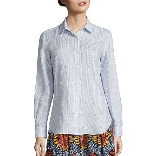 Cheap Sale Hot Sale Weekend MaxMara Long Sleeve Button-Up Top Fast Delivery Free Shipping With Credit Card Clearance New Arrival Cheap Sale Outlet 71AViuoo
