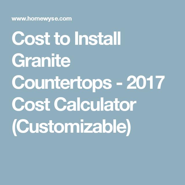 Calculator Cost To Install Granite Countertops Cleaning Granite