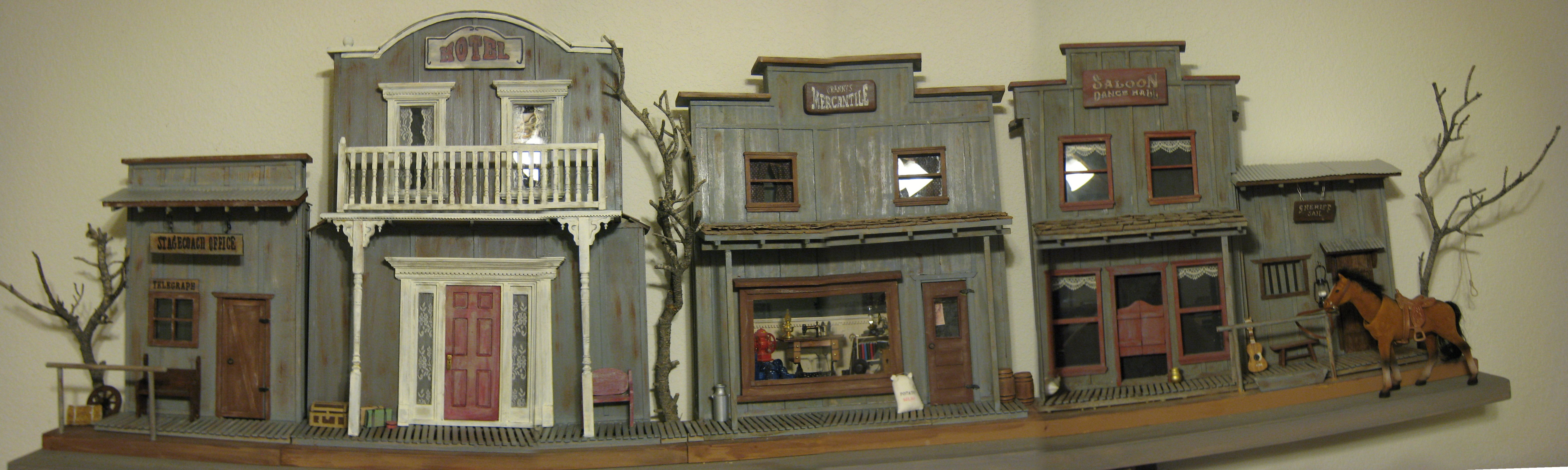 This is a miniture 6 ft long of some of the buildings