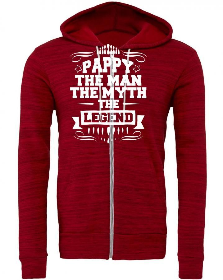 pappy the man the myth the legend 1 Zipper Hoodie