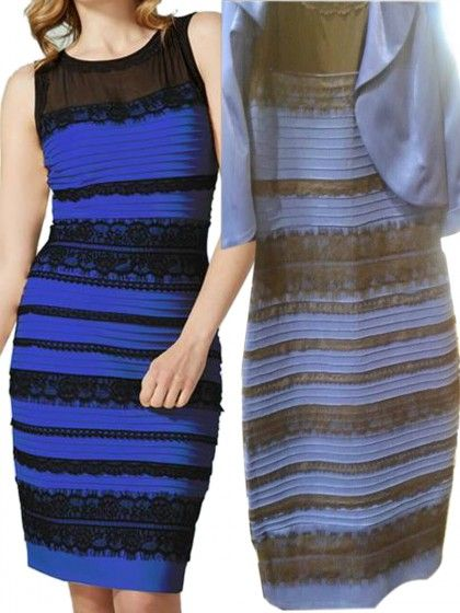 Blue Black Or White Golden Lace Detail Dress It S The