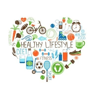 #vectorstock #lifestyle #healthy #fitness #vector #heart #neyro #diet #sign #and #by #onHealthy life...