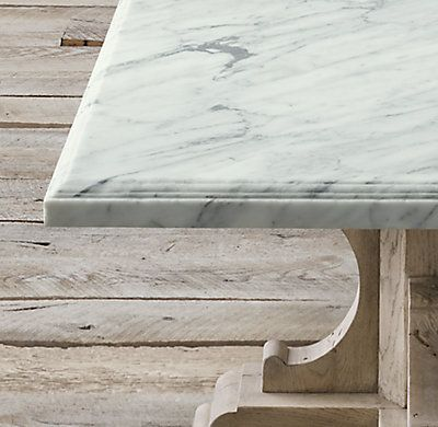 Rh 39 S 17th C French Bastide Oak Amp Marble Rectangular Dining Table Evoking The Grandeur Of 17th Ce Marble Dinning Table Dining Table Dining Table Marble