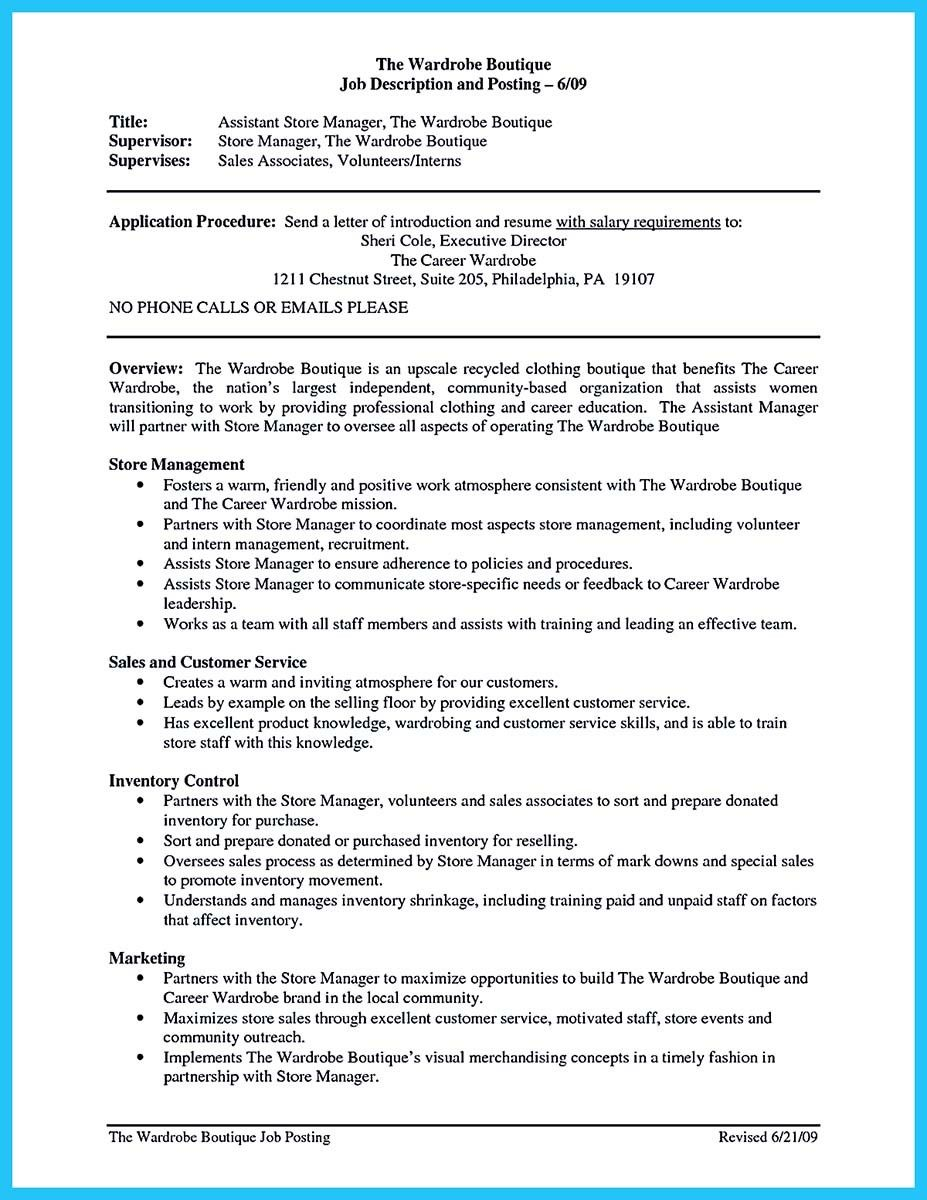 Retail Assistant Manager Resume Cool Writing A Great Assistant Property Manager Resume  Resume