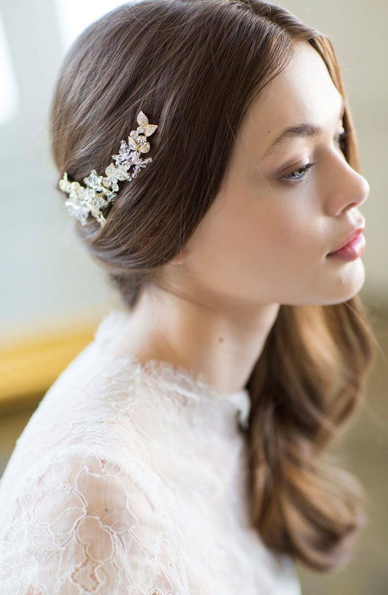 brides & hairpins olivia jeweled hair clip | nordstrom