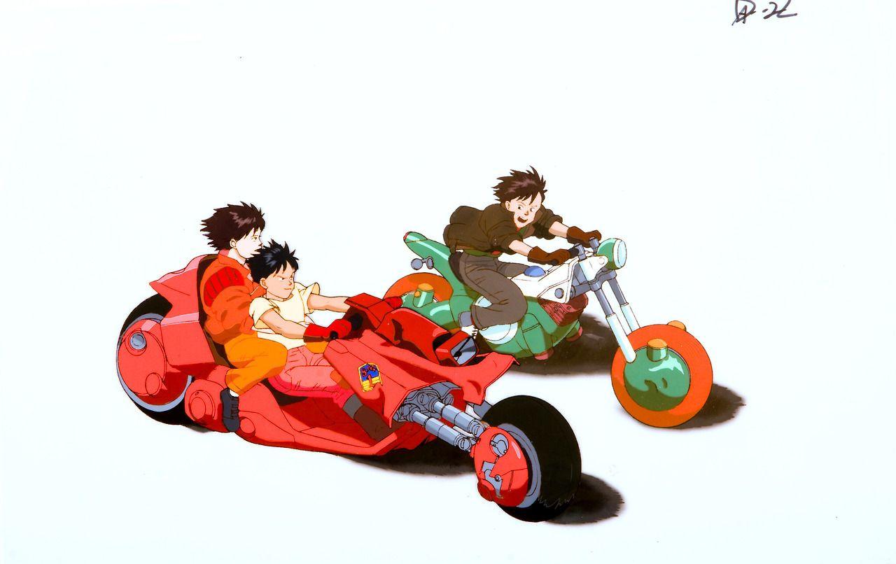 Akira 1988 Cels X 2 240mm X 350mm Kaneda Kei And Kaisuke Ride