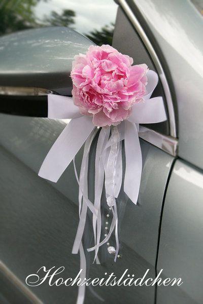 Dekoschleife Mit Tulle Fur Frischblumen Fur Auto Oder Kirche Frische Blumen Autodeko Hochzeit Autoschmuck Hochzeit