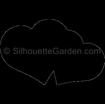 Double Heart Silhouette Silhouette Clip Art Silhouette Balloon Gift