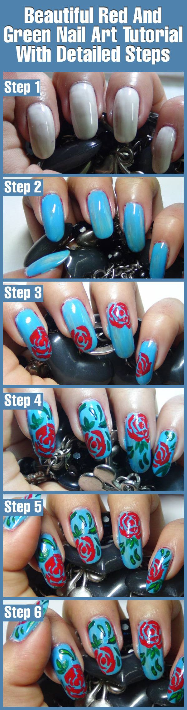 2 Amazing Red Nail Art Tutorials With Detailed Steps | Pinterest ...
