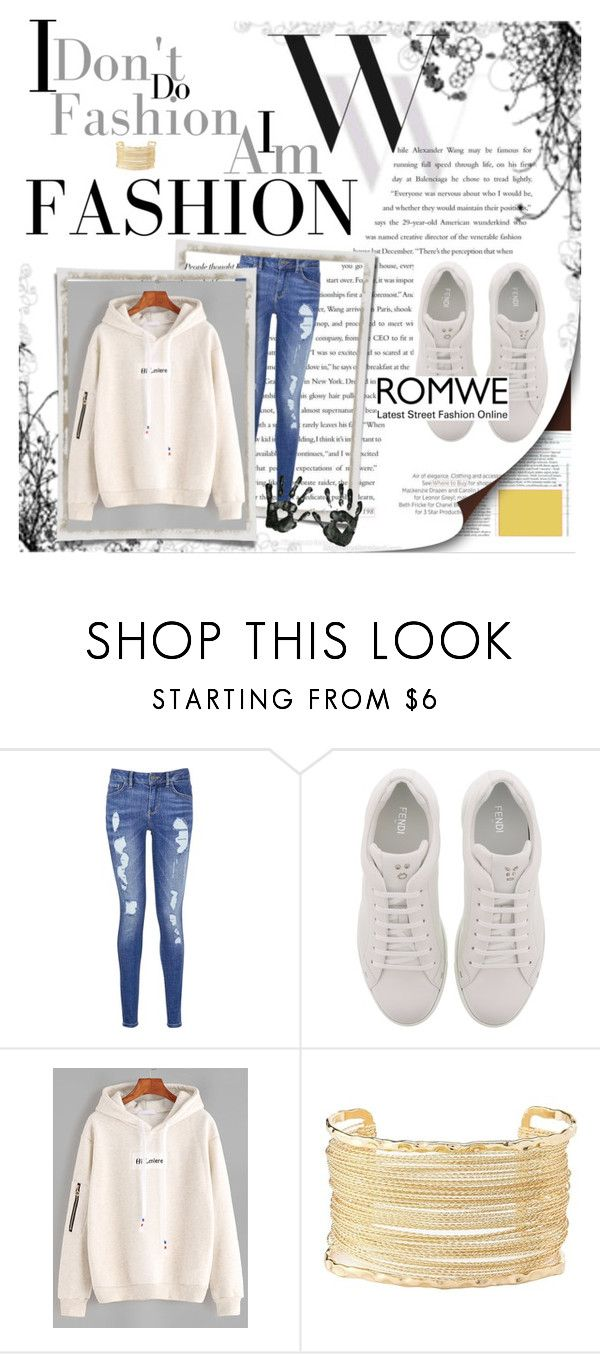 """""""Untitled #37"""" by alejna-1 ❤ liked on Polyvore featuring Balenciaga, Tommy Hilfiger, Fendi and Charlotte Russe"""