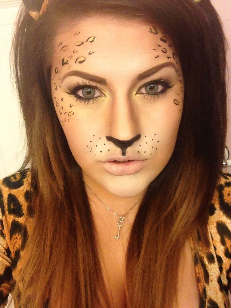 leopard makeup halloween maquillaje halloween mimos. Black Bedroom Furniture Sets. Home Design Ideas