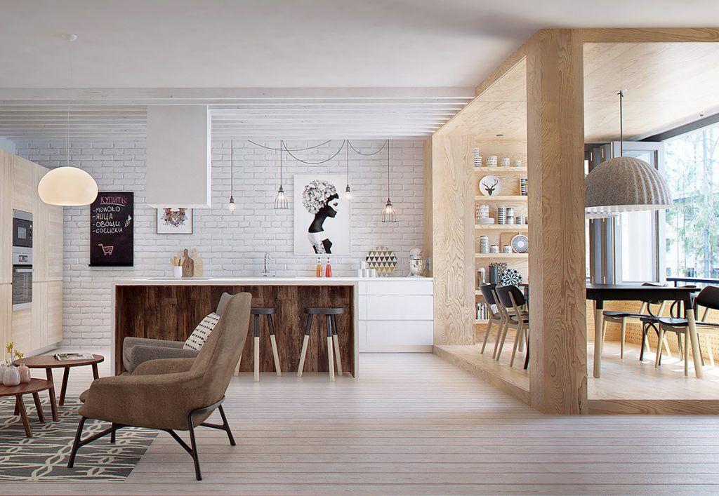 Come arredare una cucina e un soggiorno in un ambiente ...