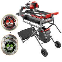 Rubi Dt 250 Evolution 10 Wet Tile Saw Stand Two 2 10 Rubi Porcelain Blades This Rubi Electric Tile Cutter Package Has Ev Tile Saw Evolution 10 Tile Saws