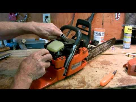 How to put a chain on a chainsaw youtube chain saw stuff how to put a chain on a chainsaw youtube greentooth Images