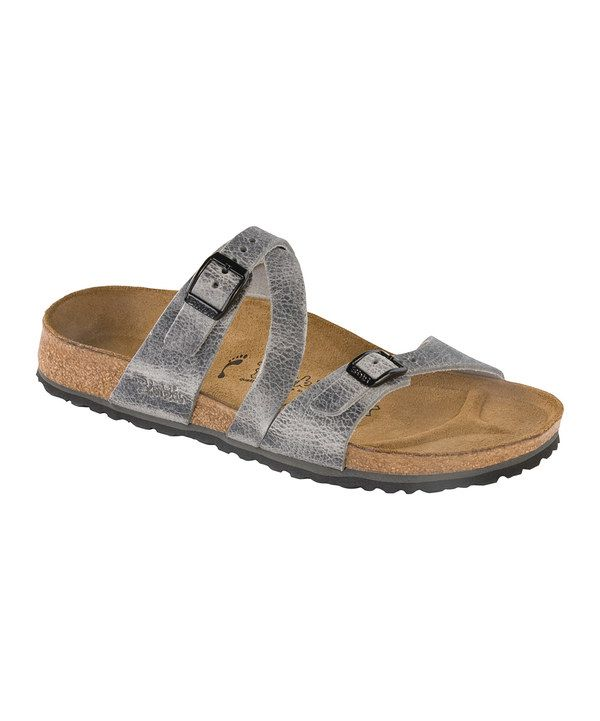 Take a look at this Birki's Silver Arunta Salina Slide - Women on zulily today!