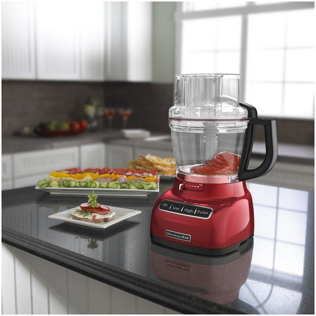 Kitchen aid kfp1333er 13 cup food processor empire red