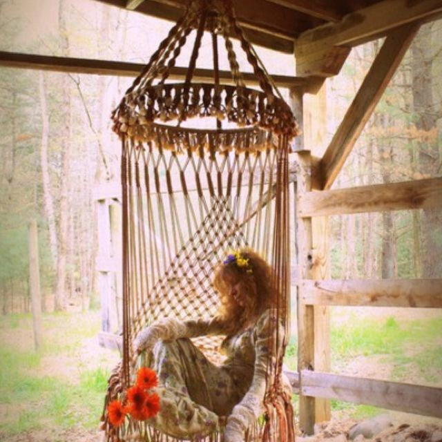 Hanging Chairs, Beds, Hammocks And Lounges. Handmade OOAK Macrame Vintage  Retro Style Hanging Woodstock Hippie Elf Fairy Swing Chair As Seen On HGTV  Junk ...