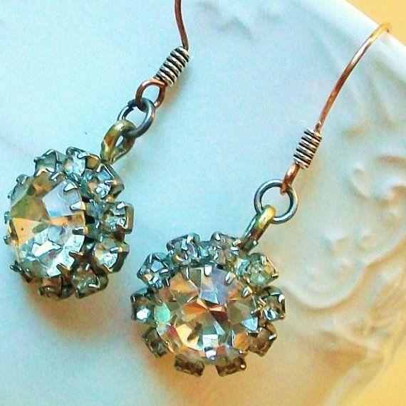 repurposed vintage earrings from Steph's Jewels