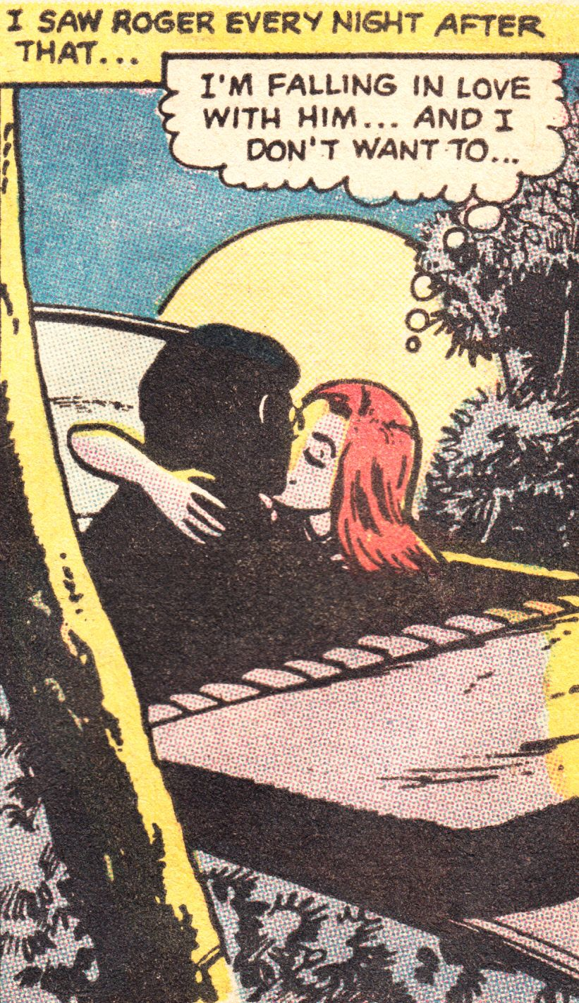 """Comic Girls Say.. """"I'm falling in love with him ..and I don't want to. """" #comic #popart #vintage"""