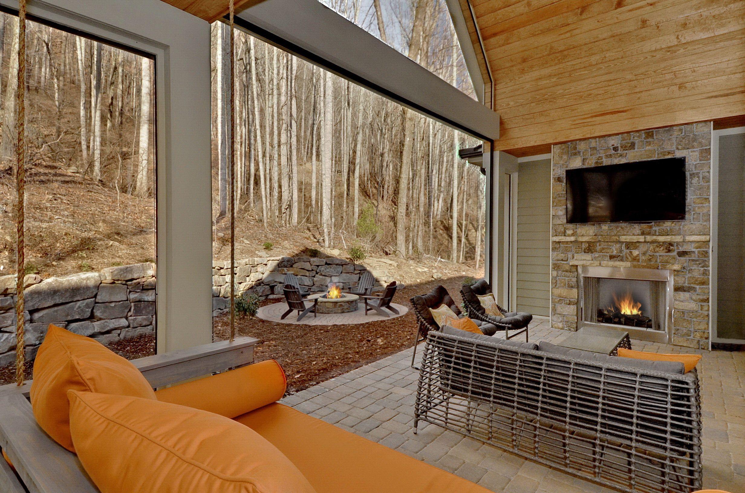 Outdoor Living Custom fireplace, Arthur rutenberg homes