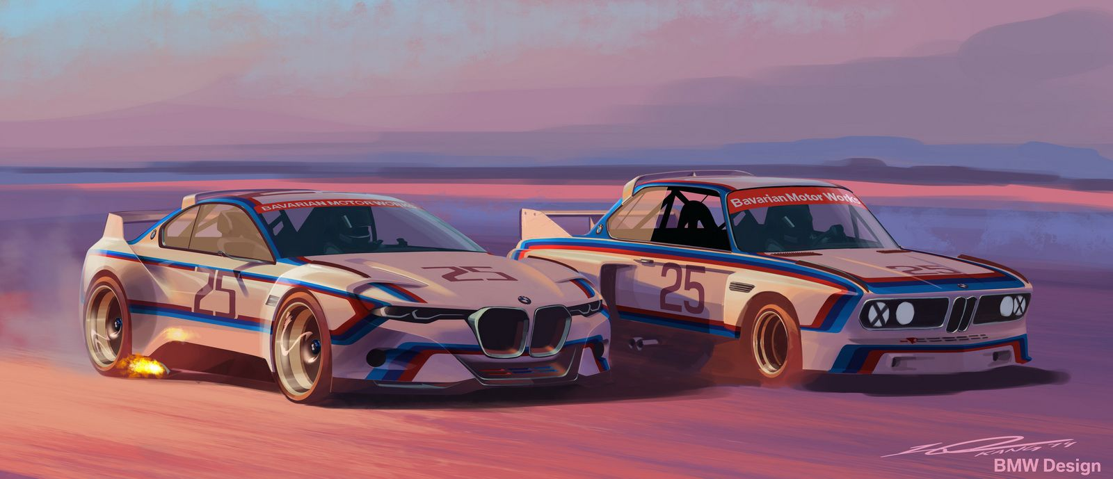 Bmw 3 0 Csl Hommage R Concept Proudly Wears Bmw Motorsport S