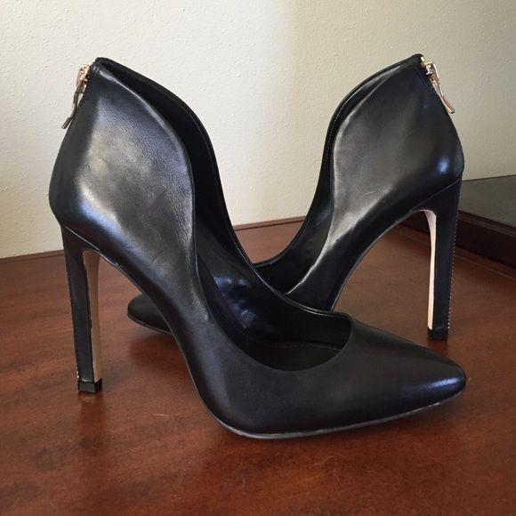 ddc57993fb6 BCBG pumps. Zipper accent up back. Functioning zipper on heel. Rockstar  heels. BCBGeneration Shoes Heels