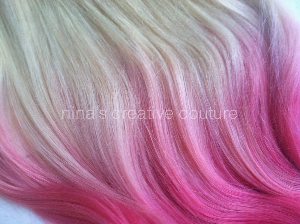 Dip dye ombre hair extensions cotton candy pink blonde hair dip dye ombre hair extensions cotton candy pink blonde hair extensions pink pmusecretfo Images